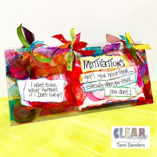 Clear _scraps_acrylic_slimline_mini_album_alcohol_ink_motivation_quotes_healthy_lifestyle_diet_tami_sanders - wm