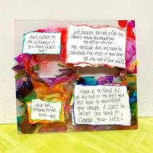 Clear _scraps_acrylic_slimline_mini_album_alcohol_ink_motivation_quotes_healthy_lifestyle_diet_tami_sanders - 1
