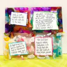 Clear _scraps_acrylic_slimline_mini_album_alcohol_ink_motivation_quotes_healthy_lifestyle_diet_tami_sanders - 4