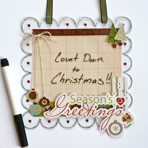 Christmas Dry Erase board