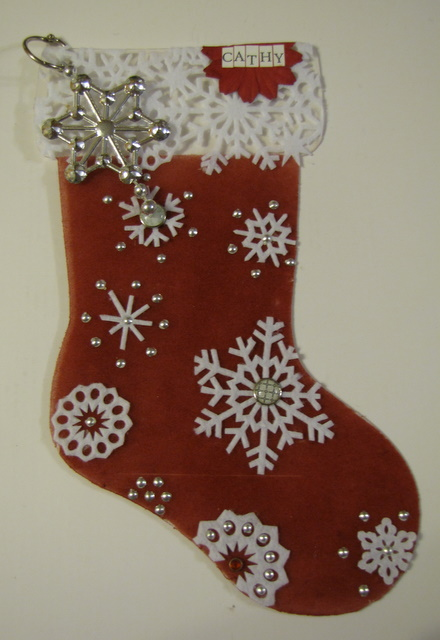 Flocked stocking