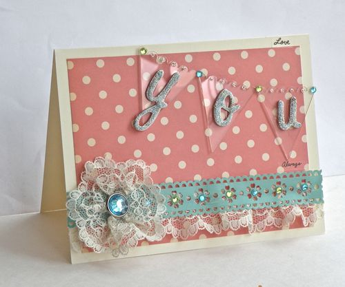 Love YOU Card by Pinky
