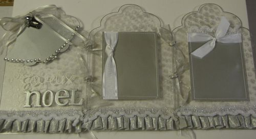 Silver Bells Tri-fold Frame