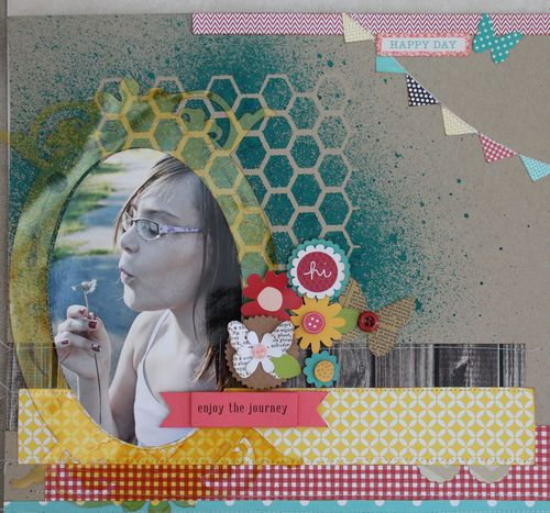 Enjoy The Journey layout by Jennifer