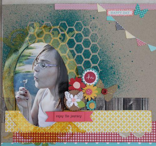 Enjoy The Journey layout by Jennifer