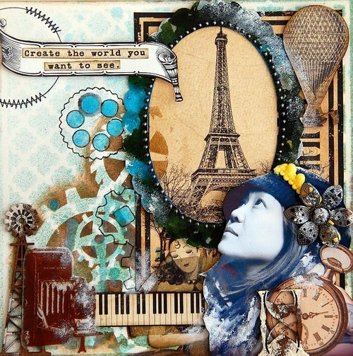 Create The World You Want To See Layout by Irene