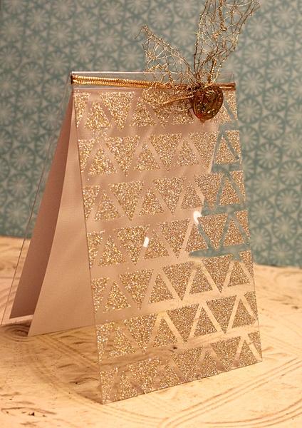 Glitter Mascil Card by Wendy