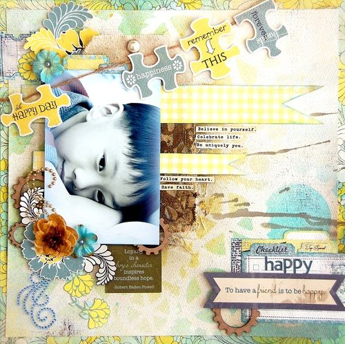 Happy Layout by Irene