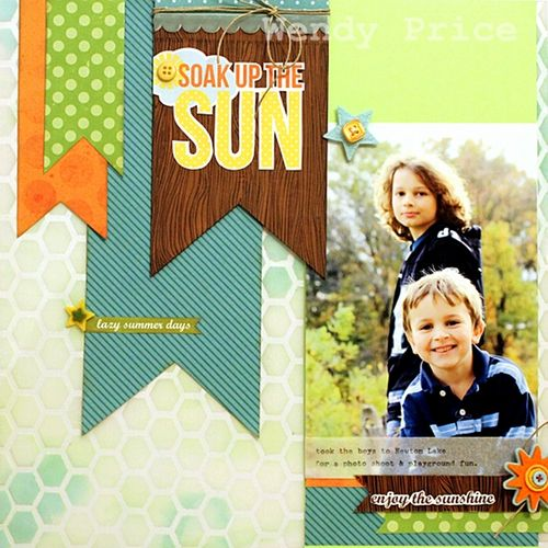 Soak Up The Sun Layout by Wendy