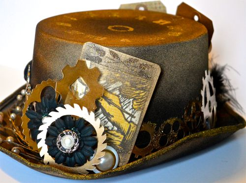 Altered SteamPunk Hat by Pinky