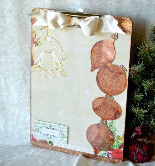 Altered Christmas Clipboard