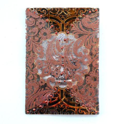 Acrylic scallop card