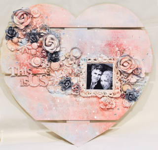 Floral Heart Wood Home Decor
