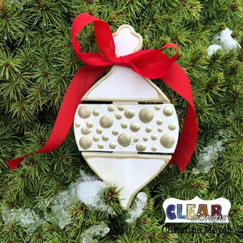 Long Bulb Mini Pallet Shape Ornament
