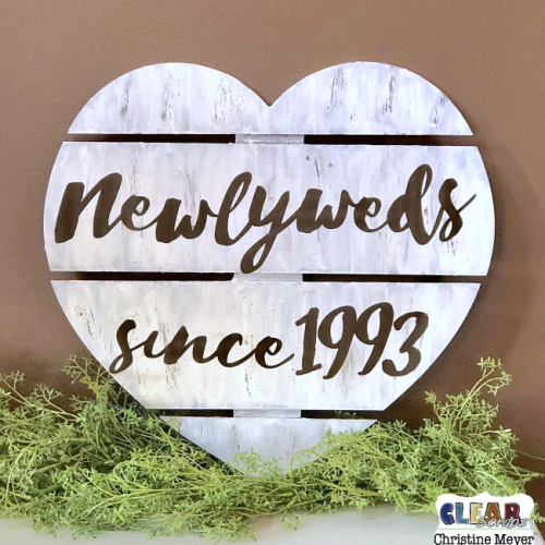 Newlyweds Heart Wood DIY Pallet
