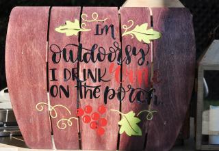 Patio Outdoor Sign