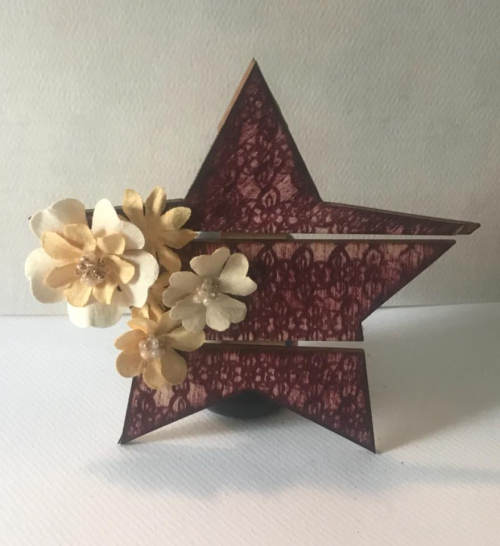 Stamped Pallet Ornament