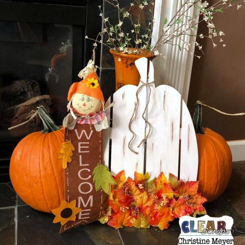 Tall Pumpkin Wood DIY Pallet
