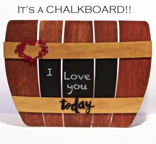 Wood Barrel Chalkboard