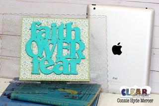 Faith Over Fear Tablet Stand